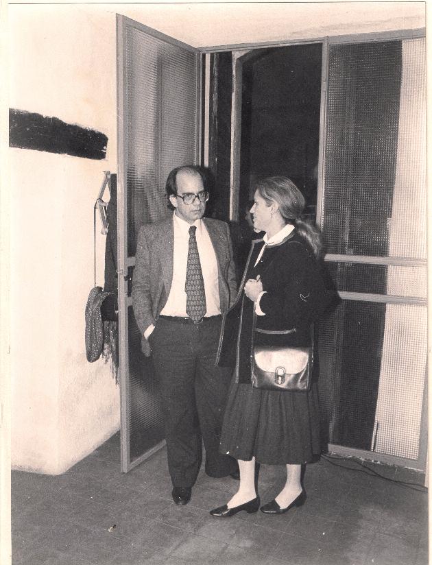 Claudio Casini e Maria Delogu