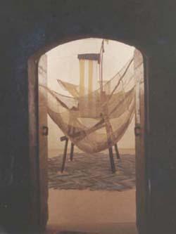 ...L'ALTRO PAESE... - legno, acrilici, tarlatana inchiostrata