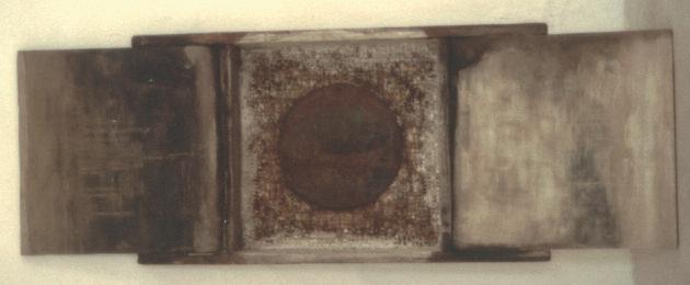 Doppia Predestinazione,1987. Legno, ferro e pittura, 157x56 cm.