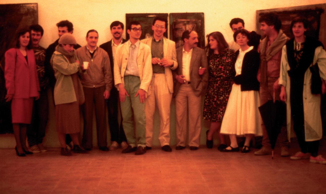 Foto di gruppo all'inaugurazione
