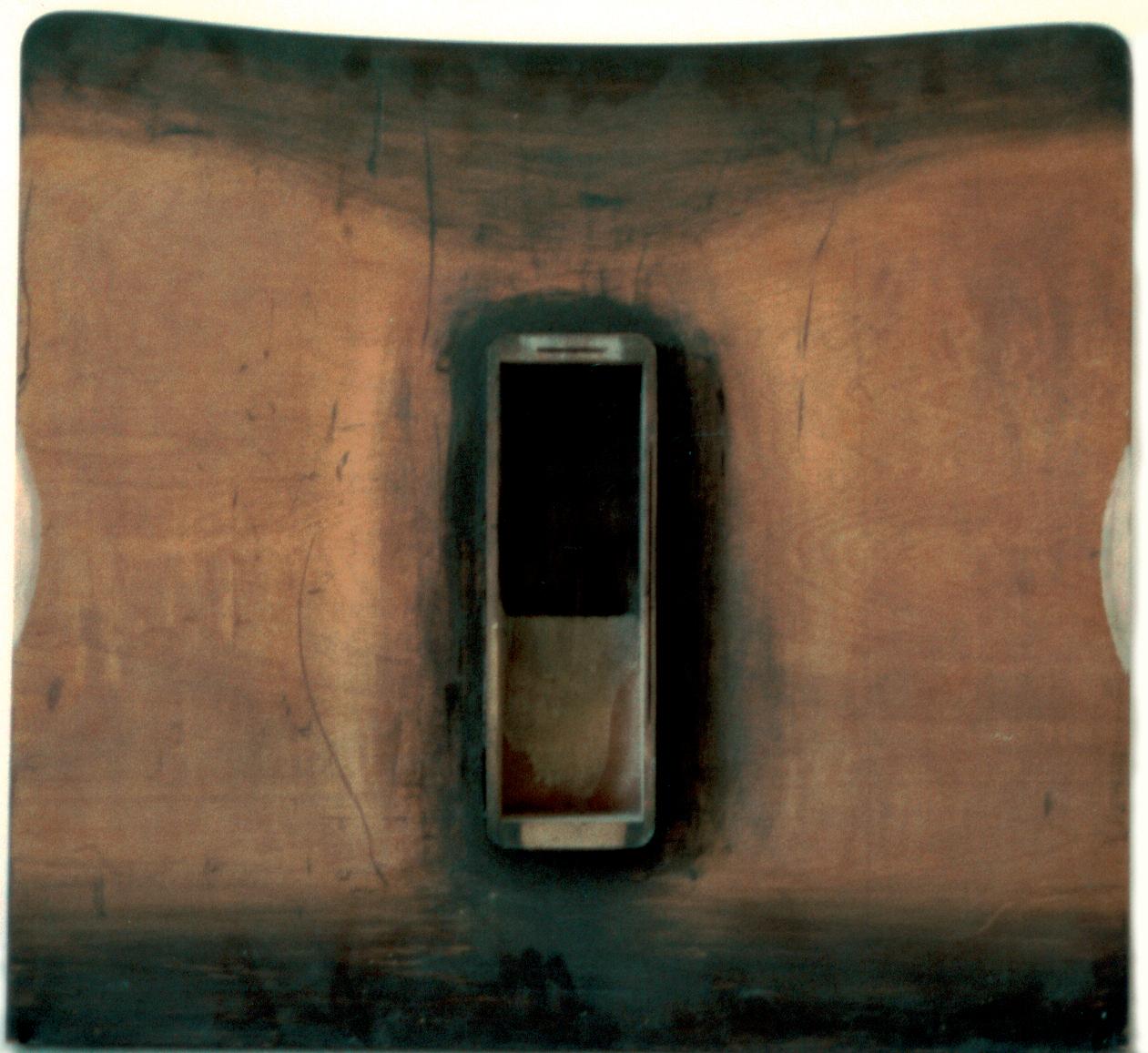 Senza titolo, 1987legno pittura 80x76 cm.