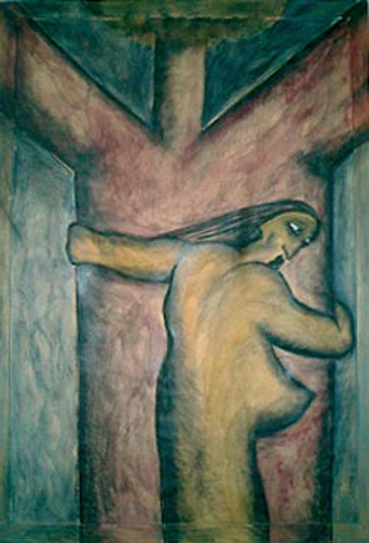 Armando Gioia, Senza titolo, 1986, olio su tela, 130 x 175 cm