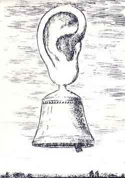 """René Magritte, Disegno per il manifesto di """"Alternative attuali 2"""" (1965)"""