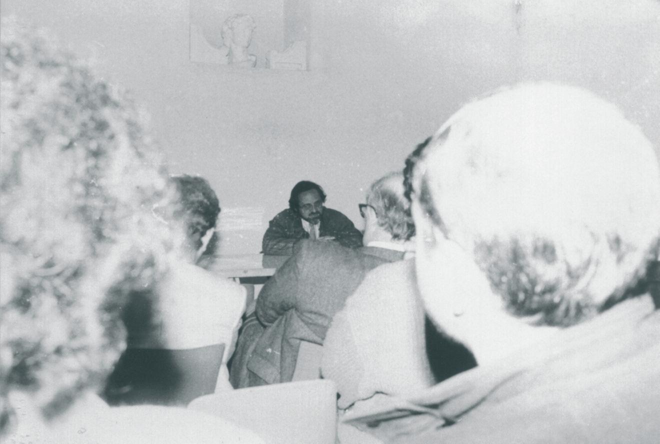 Giuseppe Grossi durante il seminario