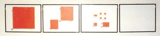 Mario Merz, Tavoli, 1974/1985, Inchiostro serigrafico su carta