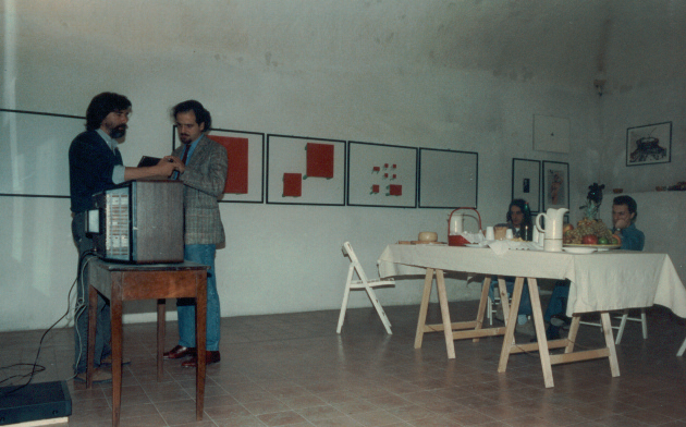 Enrico Sconci con il compositore Giorgio Battistelli