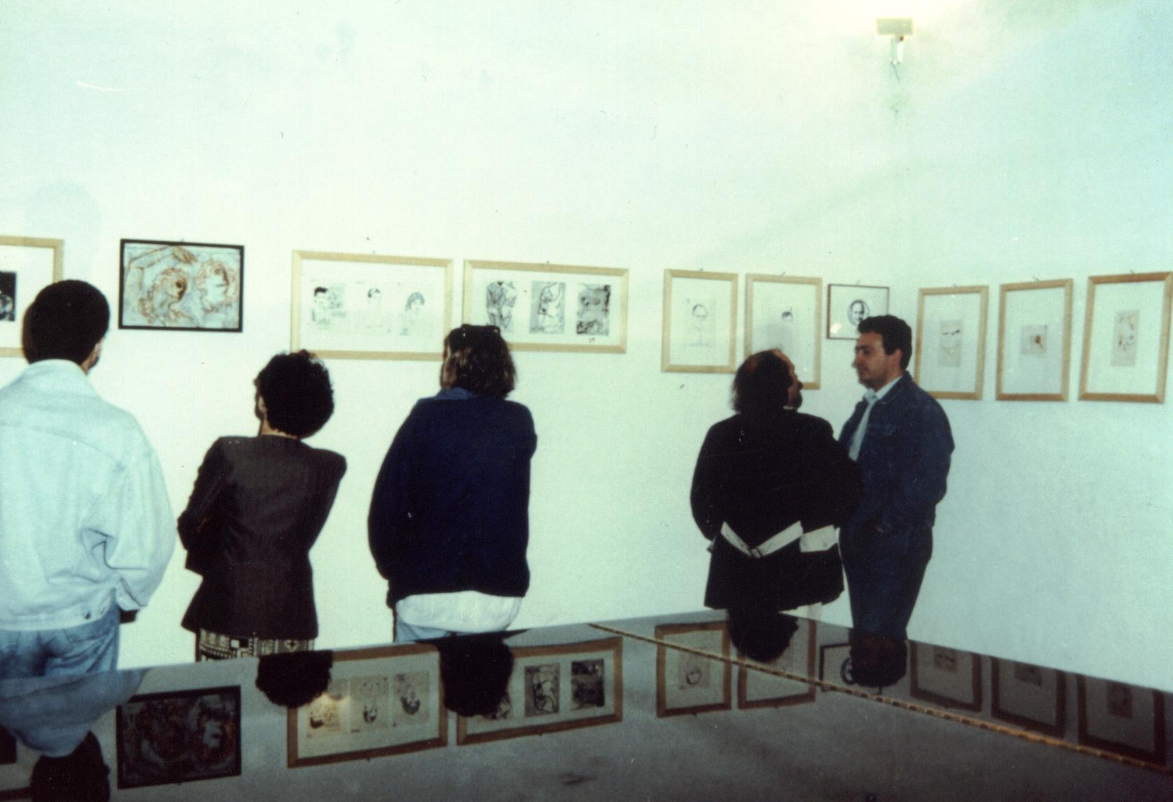 Alcuni momenti dell'inaugurazione della mostra