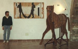 """Opera di Mauro Forci e """"Il cavallo di troia"""" di Mauro Ceroli"""