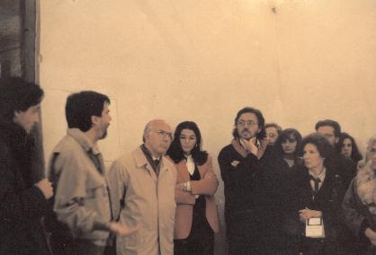 Nella foto da sinistra: Antonello Santarelli, Enrico Sconci, il sindaco dell'Aquila Antonio Centi, Angela Ciano, Antonio Gasbarrini
