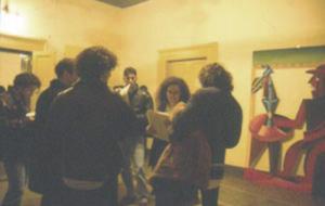 Laura Palmieri all'inaugurazione della mostra