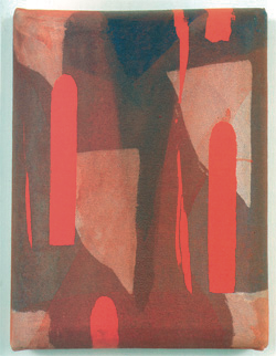 """Salvatore Dominelli """"In Limine"""" 1996,Tecnica mista su tela, cm. 15x20"""