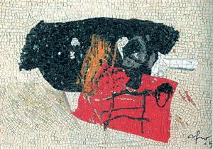 """Mosaico di Afro Basaldella, """"Liutaio"""", 1965"""