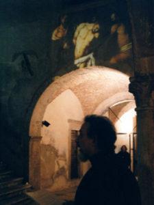 Rappresentazione nel cortile del Palazzo Baroncelli - Cappa (sec.XV) sede del Mu.Sp.A.C. Foto di Franco Soldati