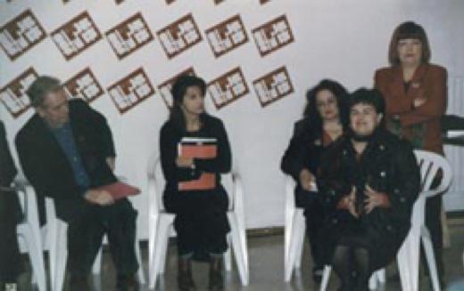 Sulla destra Stefania Pezzopane, Assessore alla Promozione Culturale della Regione Abruzzo