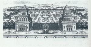 Giulio paolini, Il modello del tempio, il tempio del modello 1968 Litografia collezione permanente del Muspac