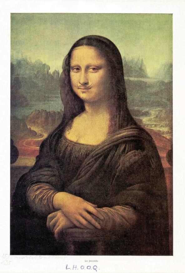 M. Duchamp, Mona Lisa LHOOQ, 1919
