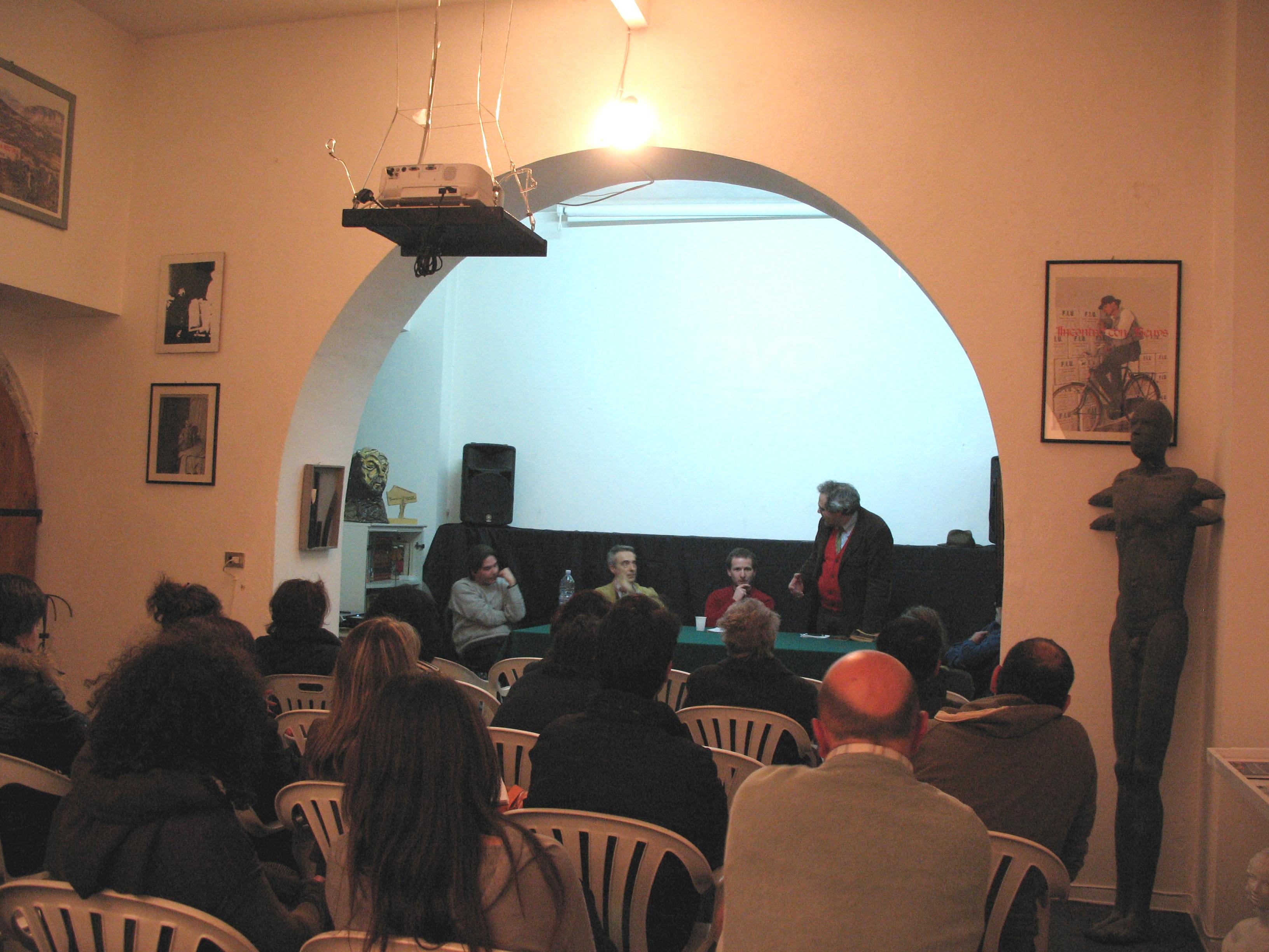 Presentazione dell'evento, da sinistra: Germano Scurti, Franco Speroni, Alessandro Bertozzi, Marcello Gallucci