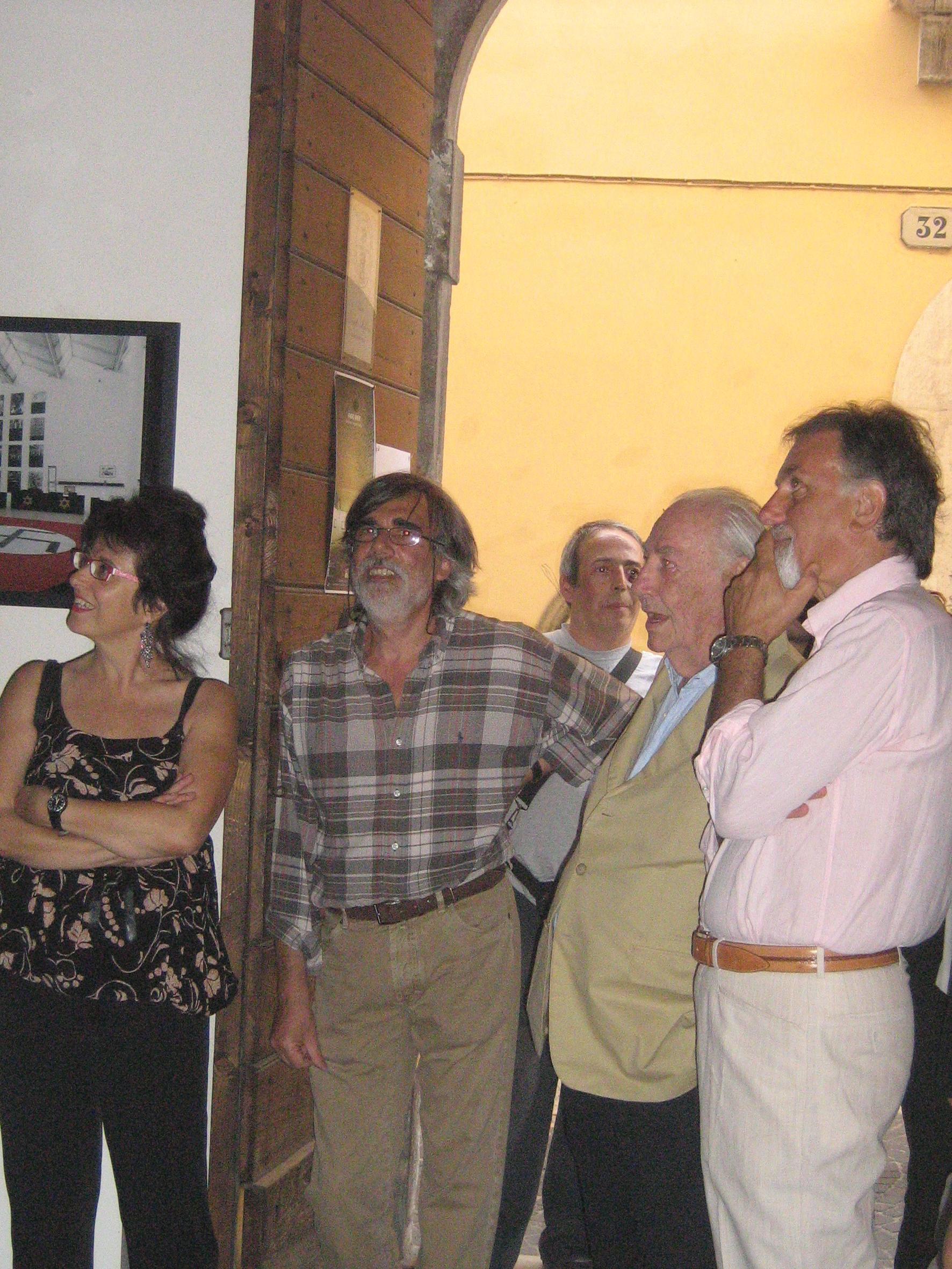 Assessore alla Cultura Anna Maria Ximenes, Enrico Sconci, Fabio Mauri e il direttore dell'Accademia di Belle Arti Eugenio Carlomagno