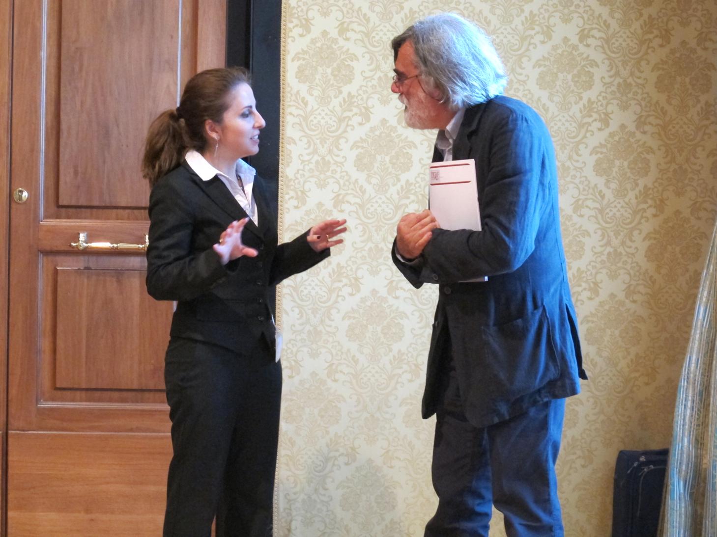 Conferenza nella sede di Roma LTBF Onlus dell'On. Irene Pivetti