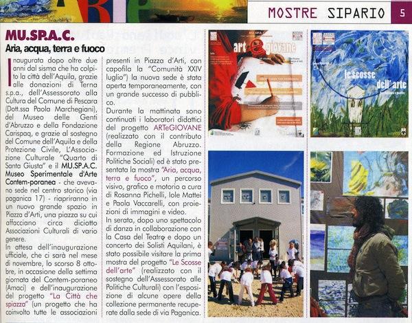 Sipario ottobre 2011 articolo