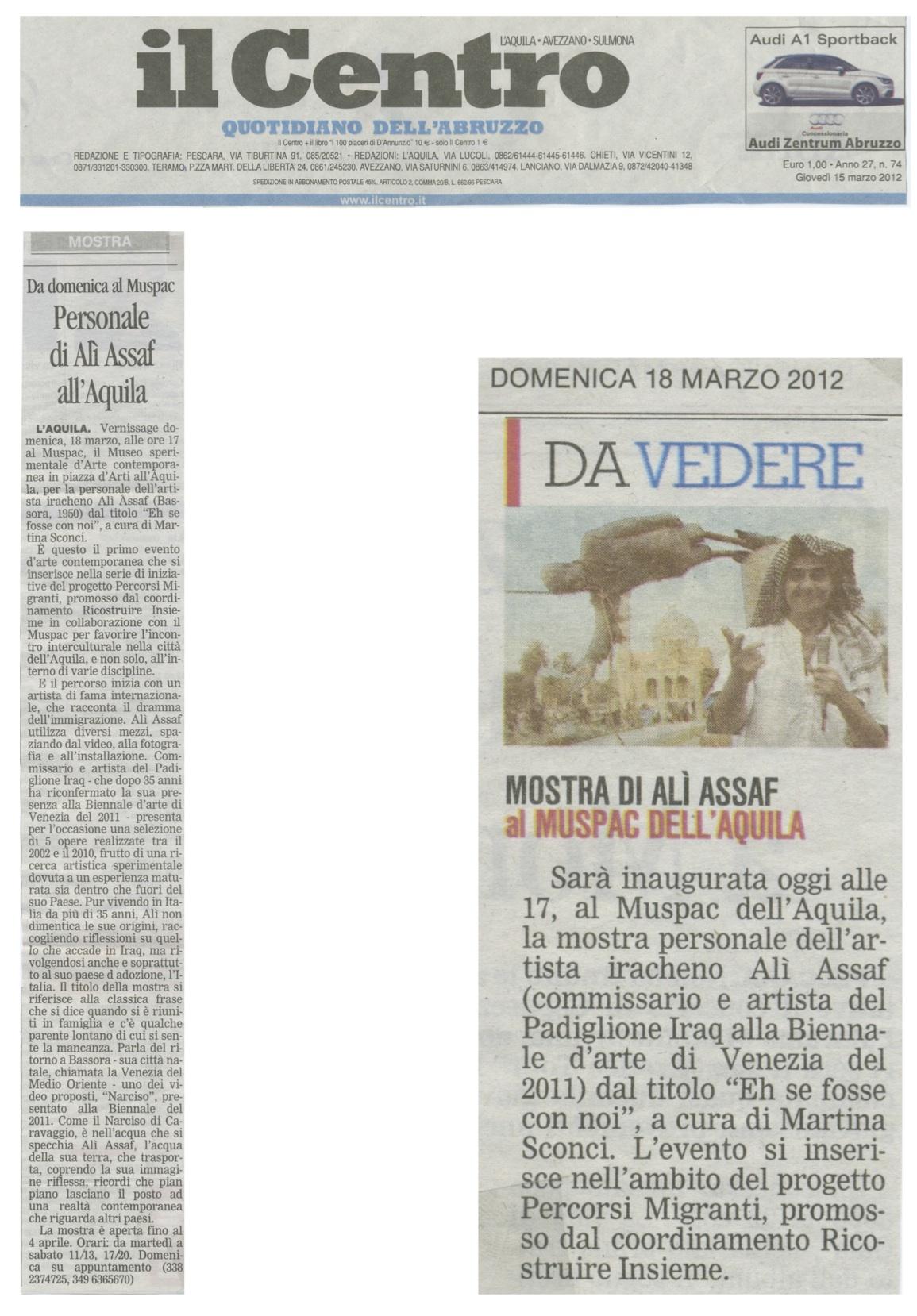 Il CENTRO_15_03_2012 e 18_03_2012