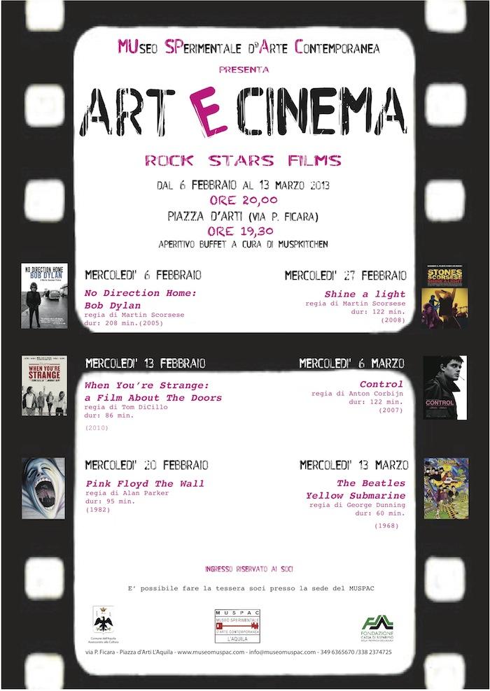 locandina ARTeCINEMA_ROCK STARS FILMS_febbraio-marzo2013