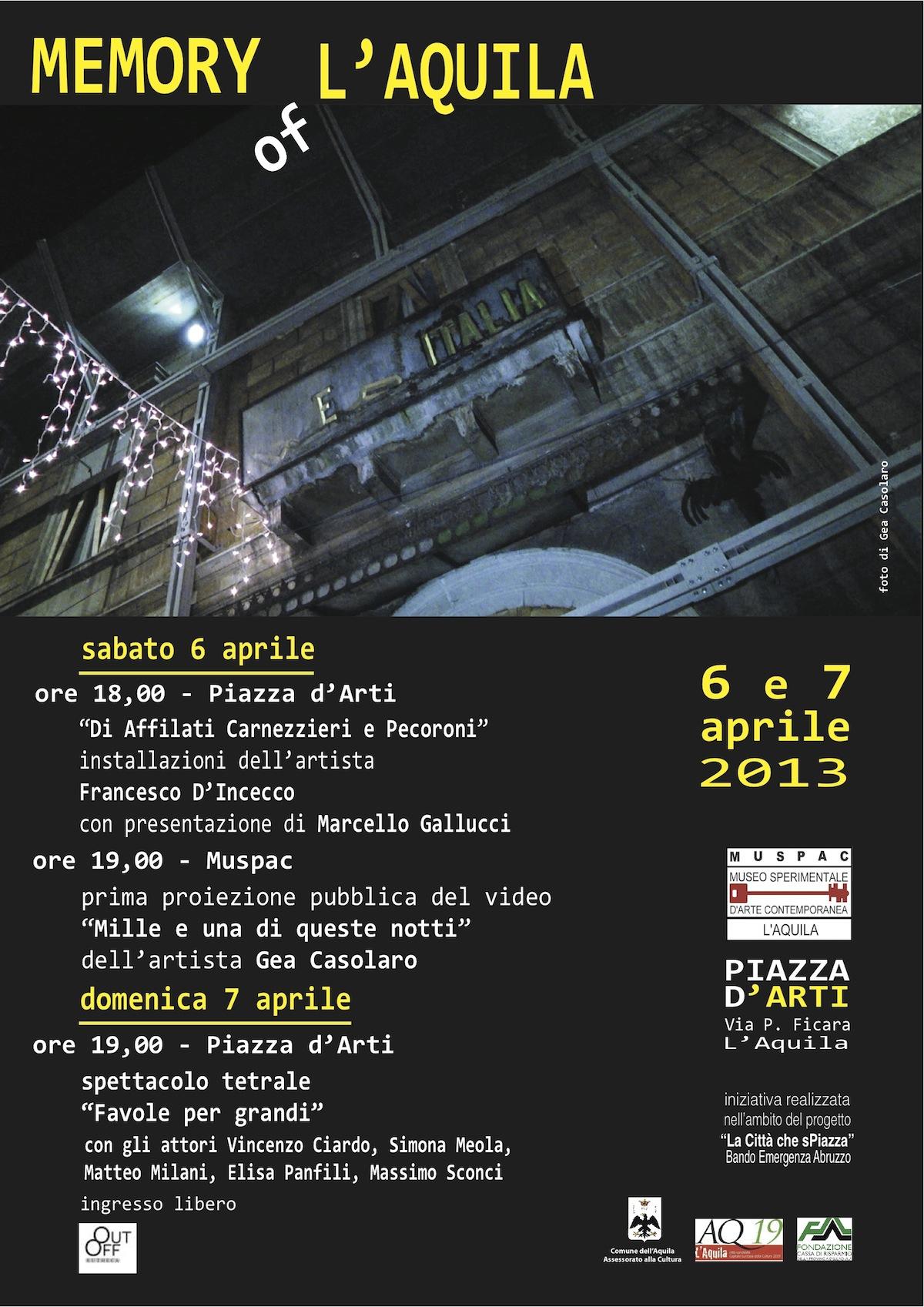 locandina programma 6 e 7 aprile 2013