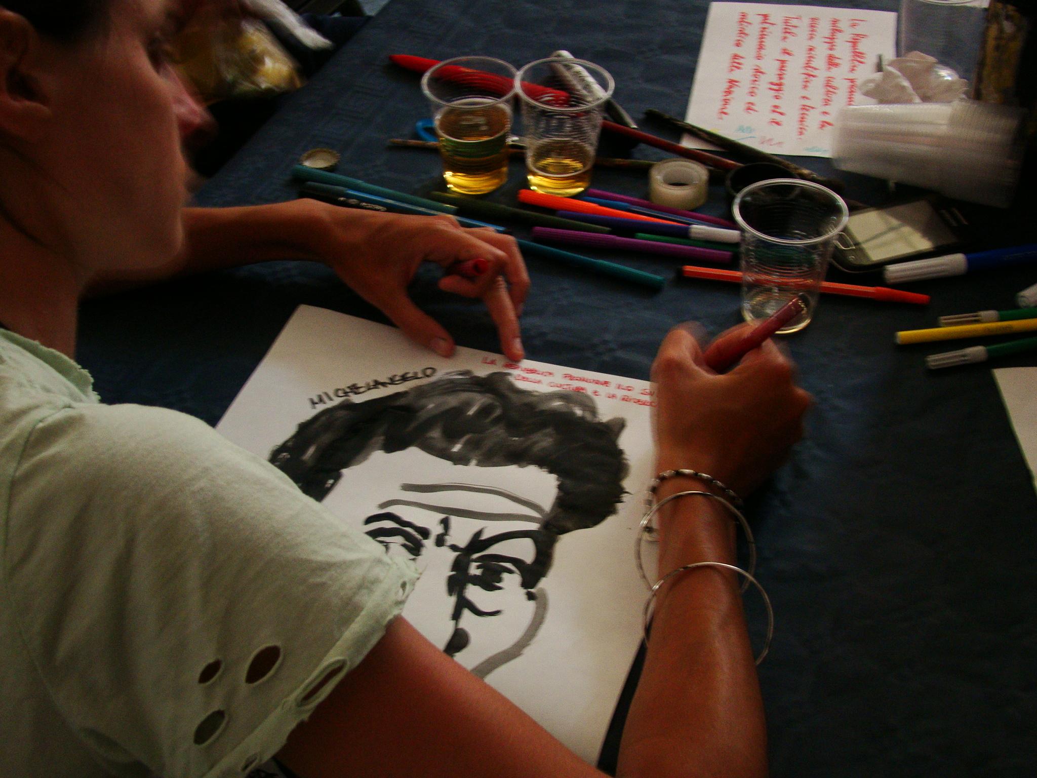 Produzione dei poster al MUSPAC
