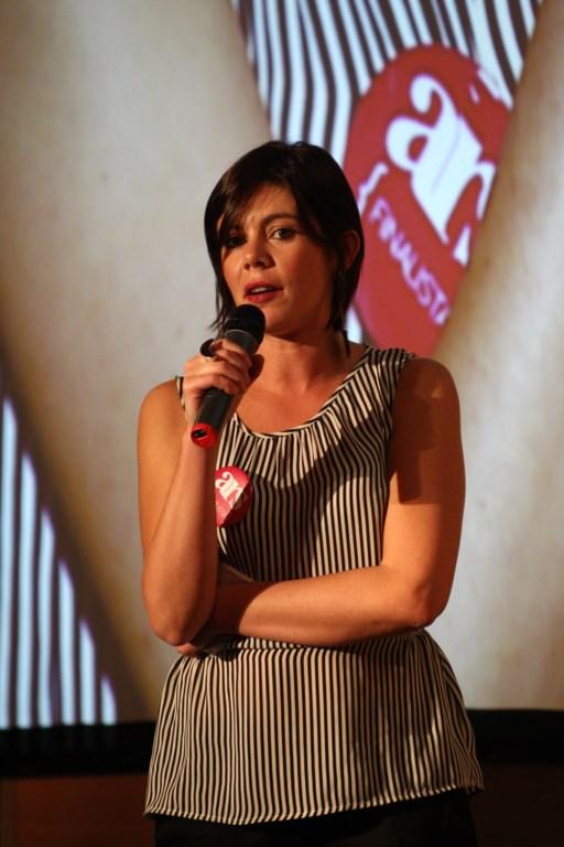 """Martina Sconci presenta il progetto del Muspac al concorso """"Ars. Arte che realizza occupazione sociale"""", Palazzo Barberini, Roma, 2013."""