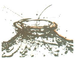 Litografia con interventi manuali e sabbia tirata su carta Graphia, tiratura 30 numeri arabi, 5 prove, 1998, 44x60 cm.