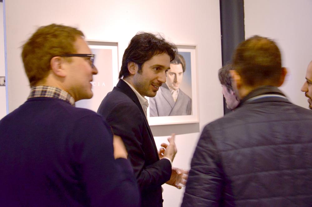 Inaugurazione della mostra con Daniele Breccia
