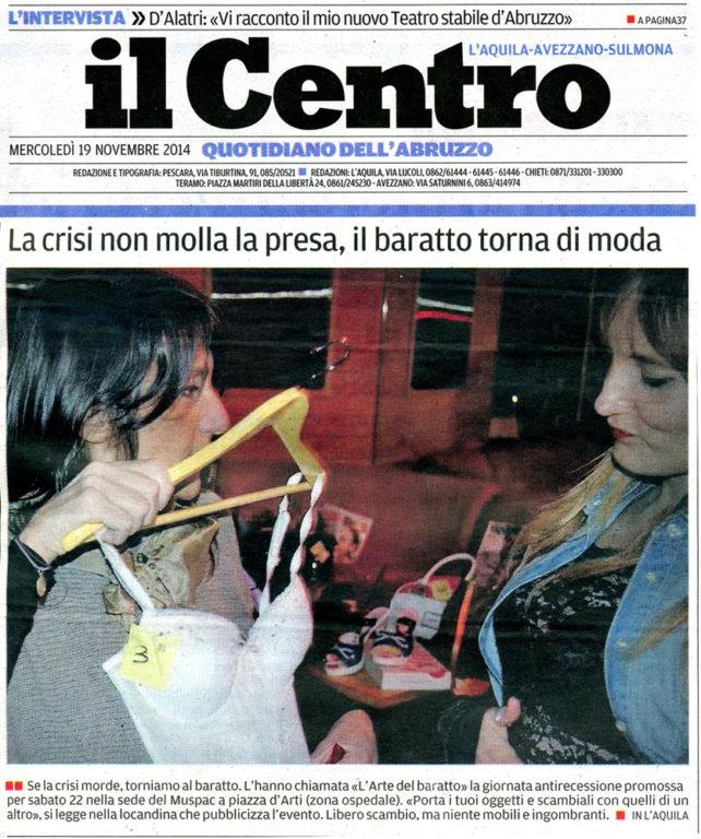 Il Centro_articolo copertina_l'arte del baratto