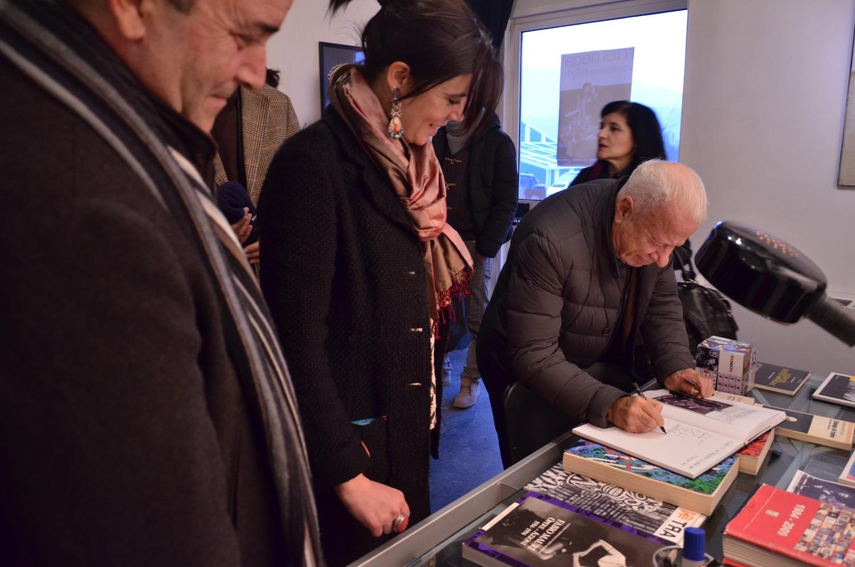 La direttrice del museo Martina Sconci e il critico d'arte Achille Bonito Oliva