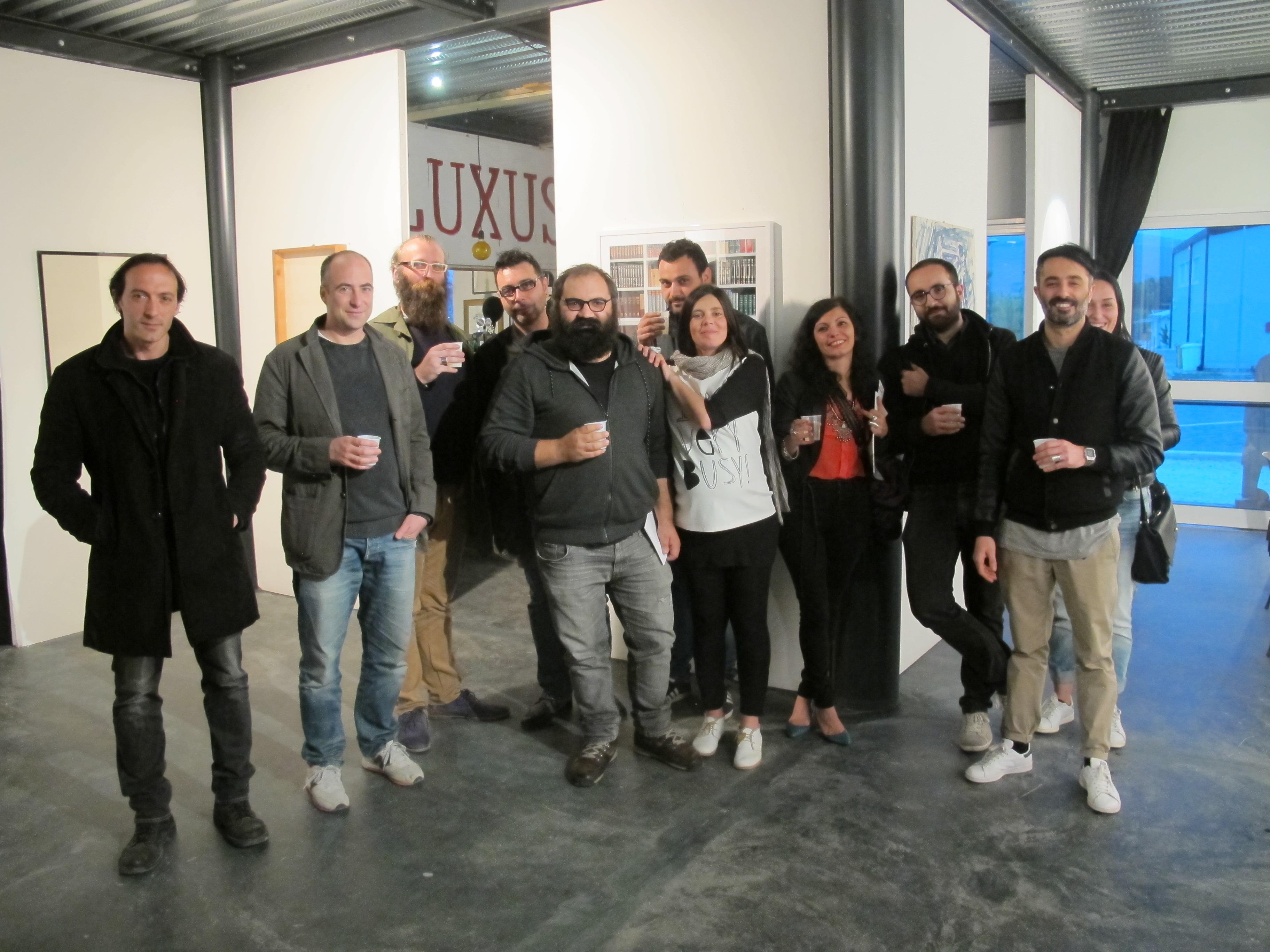 """I partecipanti della mostra """"Incodec"""""""