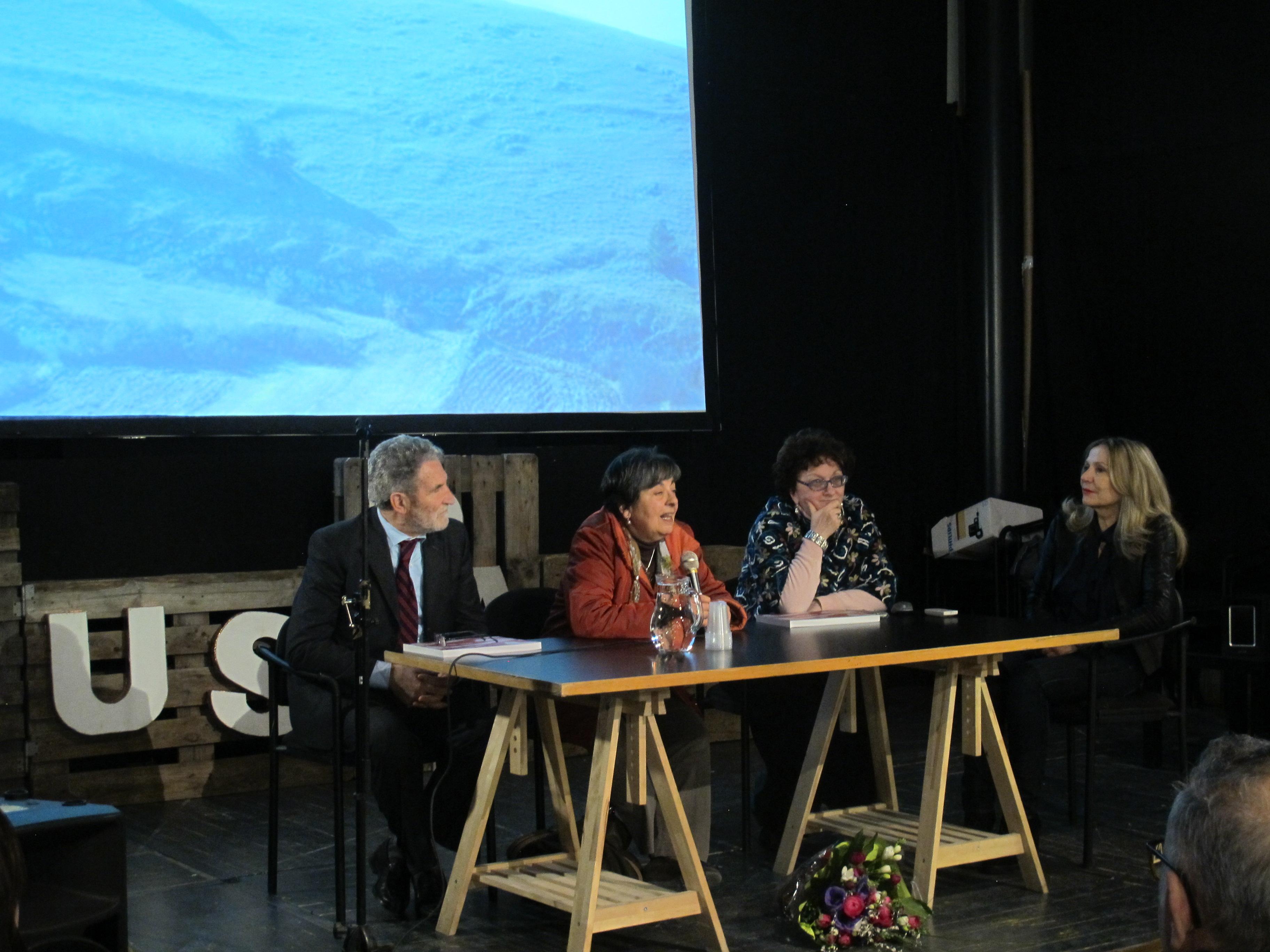 Da sinistra: Goffredo Palmerini, Elisabetta Leone Annamaria Barbato Ricci, Bruna Bontempo