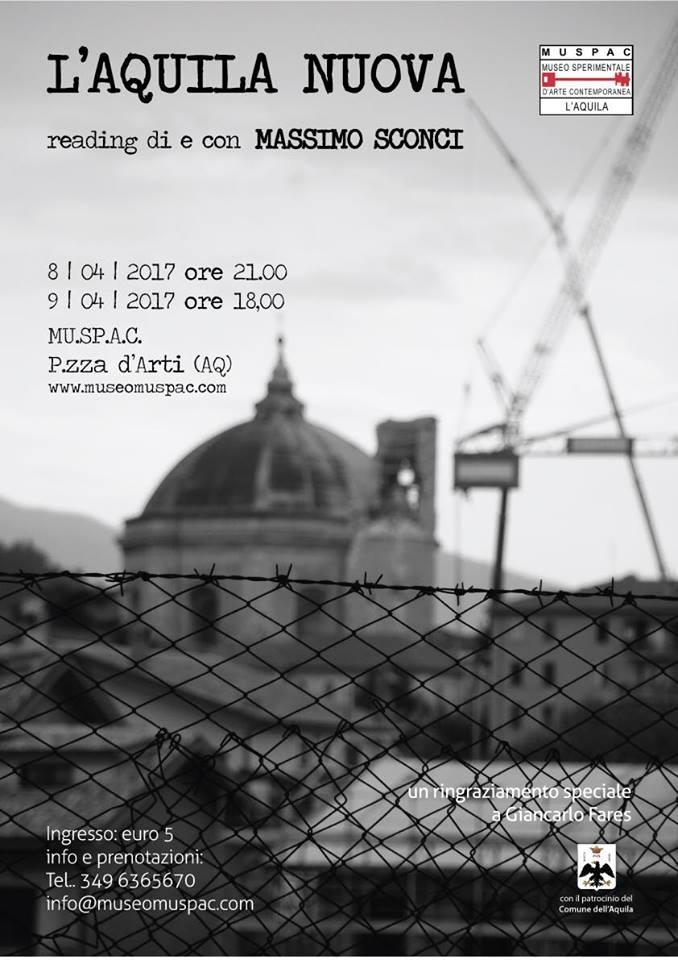 locandina L'aquila Nuova 8-9 aprile 2017