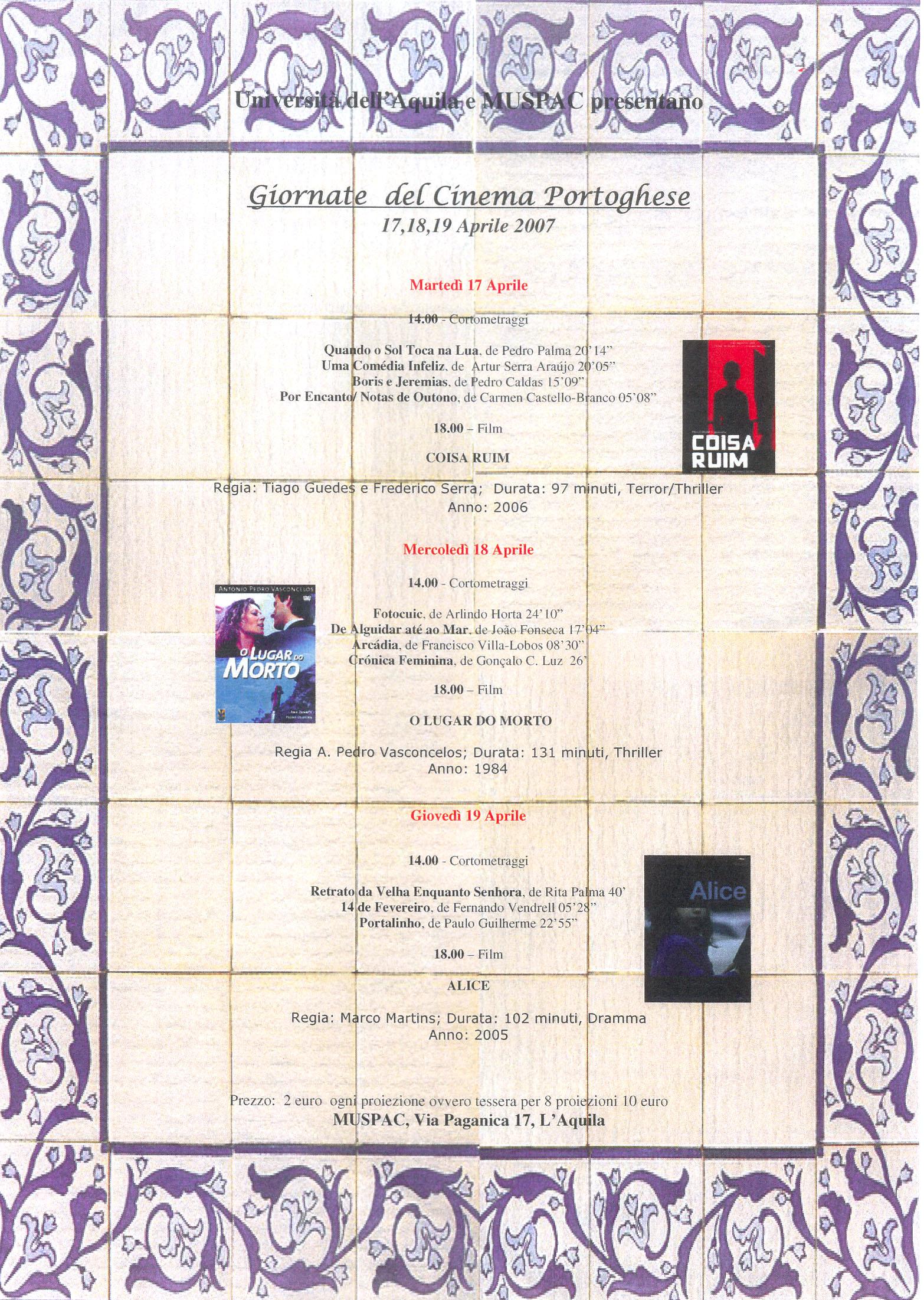 giornata cinema portoghese