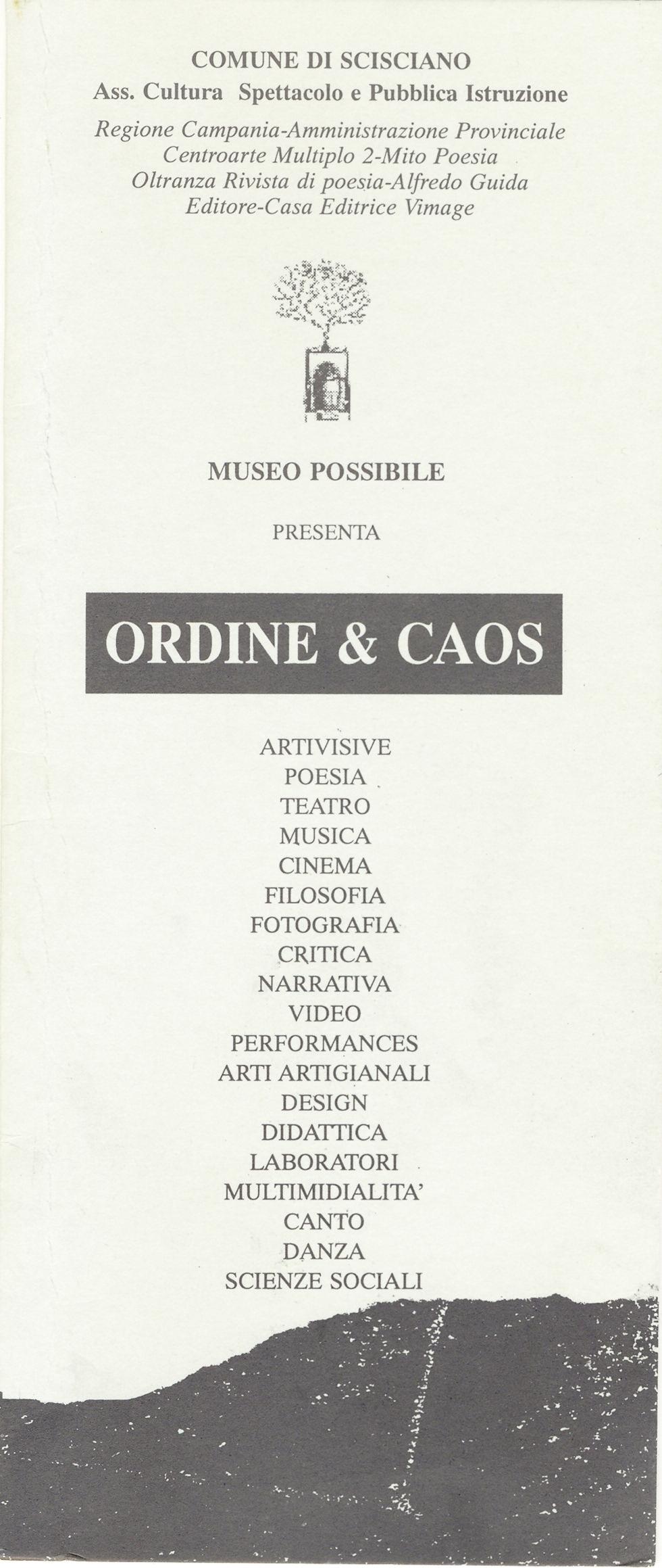 ORDINE E CAOS