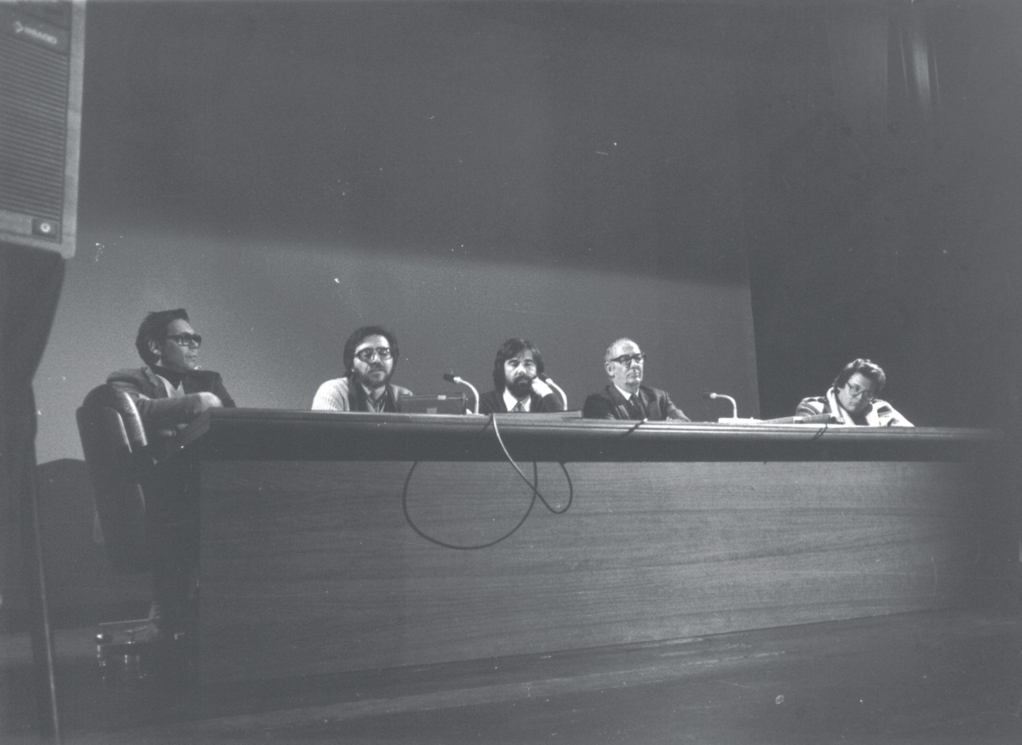 Walter Tortoreto, Antonio Gasbarrini, Enrico Sconci, Fabio Mauri e Marcello Gallucci
