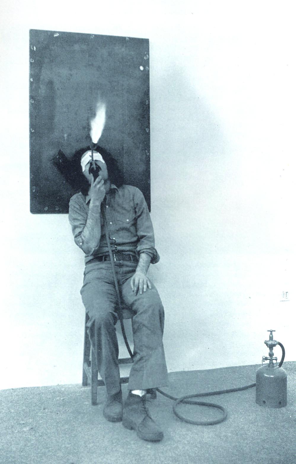 """Jannis Kounellis, """"un capitano di quindici anni - i viaggi straordinari"""", 1980"""