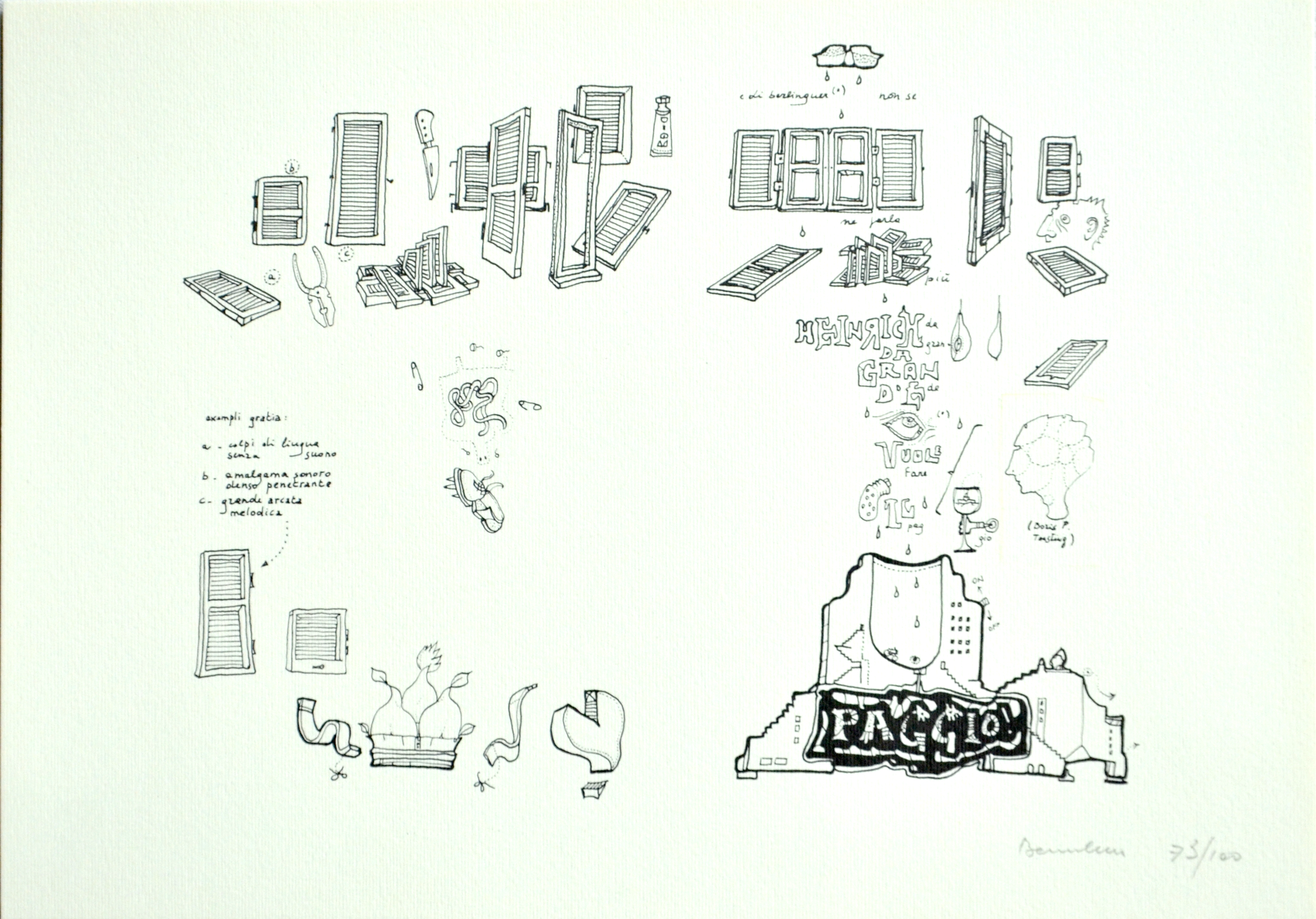 Baruchello Gianfranco_litografia 73-100_29,5x20,5cm