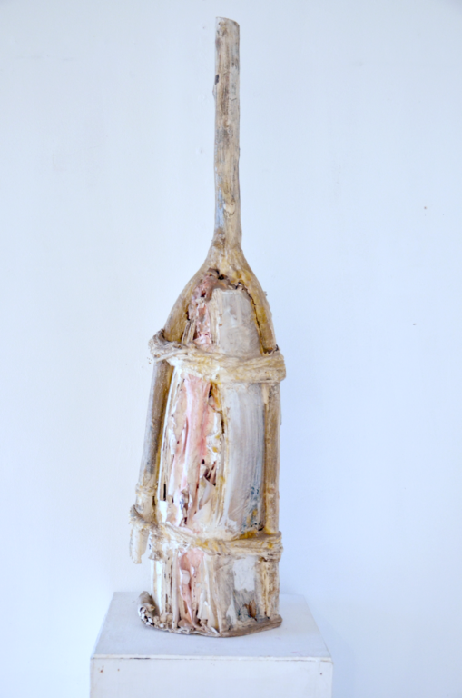 Carmine Torincasa_scultura_legno carta e cera_23 x 84 cm_1985