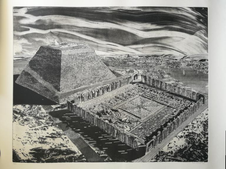 Labirinto Egiziano_10-80_2009_Toni Pecoraro incisione